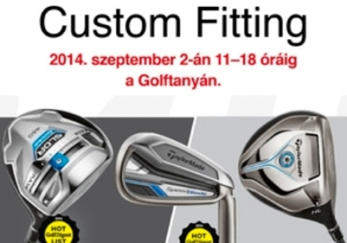 TaylorMade Custom Fitting a Golftanyán