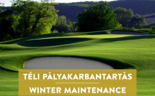 Novemberi pályazár a Zala Springs Golf Resortban